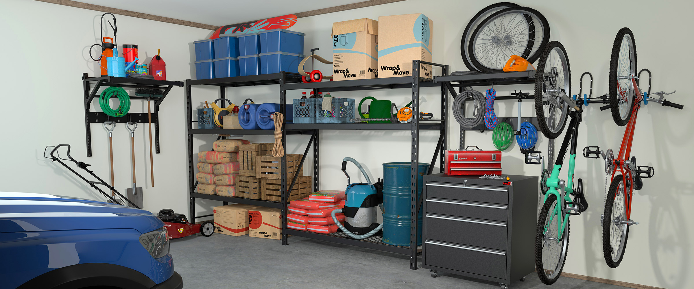 Rack It Family Garage Bundle for all your storage needs